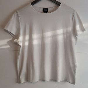 Eileen Fisher basic white tee shirt large
